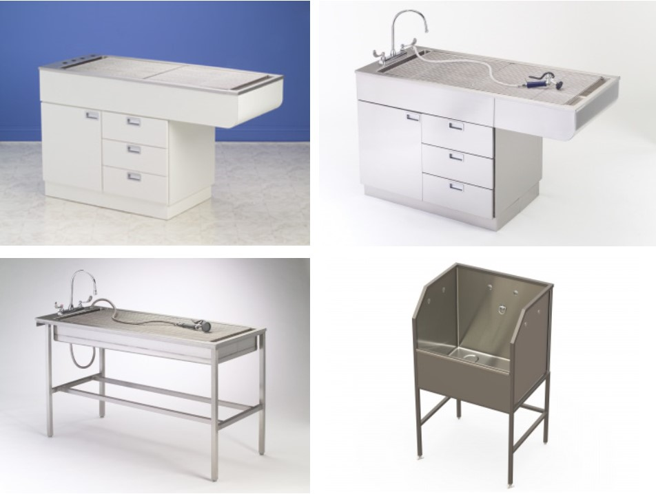 Tub Tables/Scrub Sink
