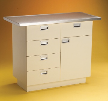 Mark II Examination Table, White Laminate Cabinet