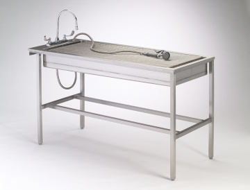 Tub Table with Stainless Steel Legs