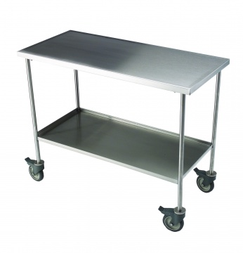 Mobile Preparation Table with Shelf