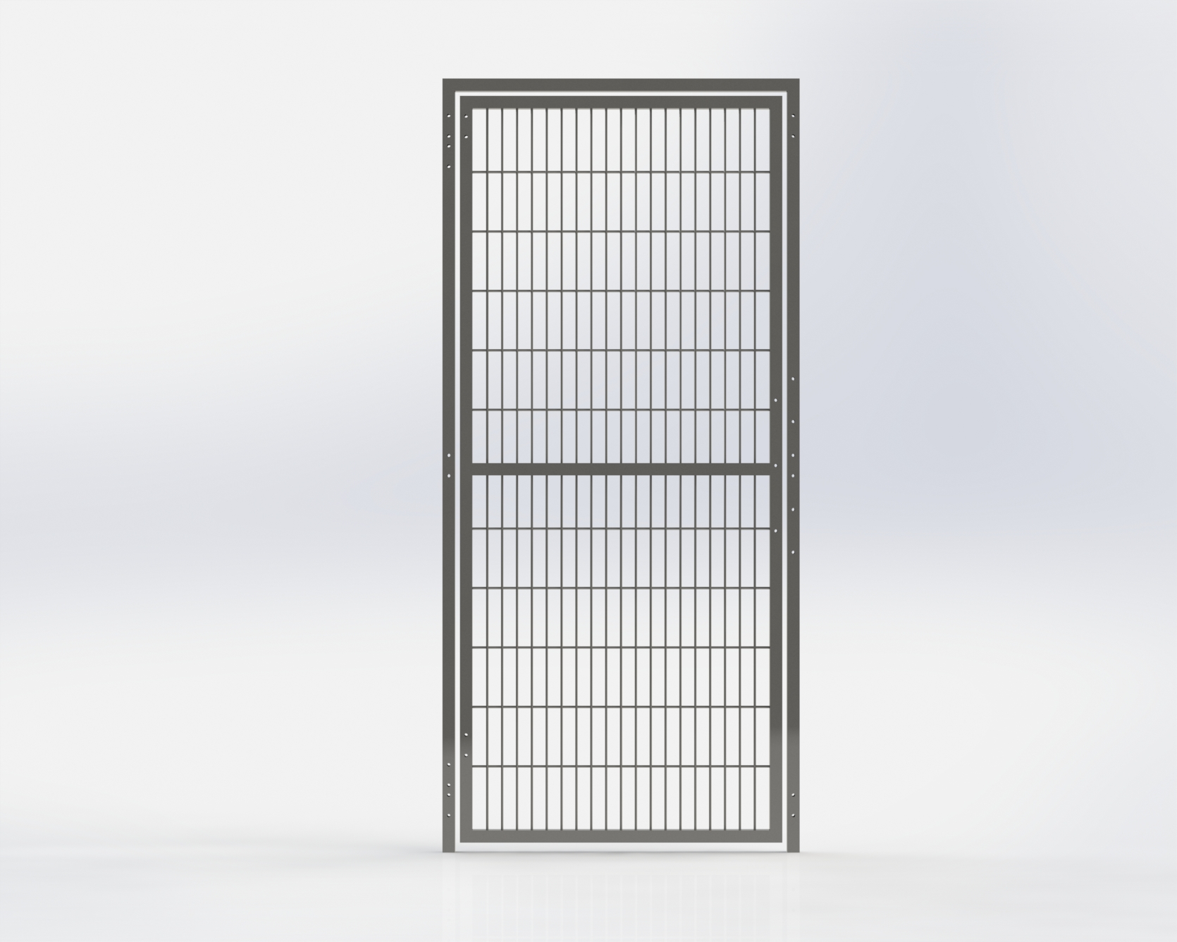 Grill Run Gate 762mm Wide x 1981.2mm High,Right Hand Latch