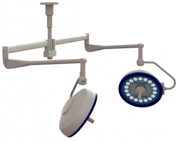 Prelude LED Ceiling Mount Surgery Light Double Head