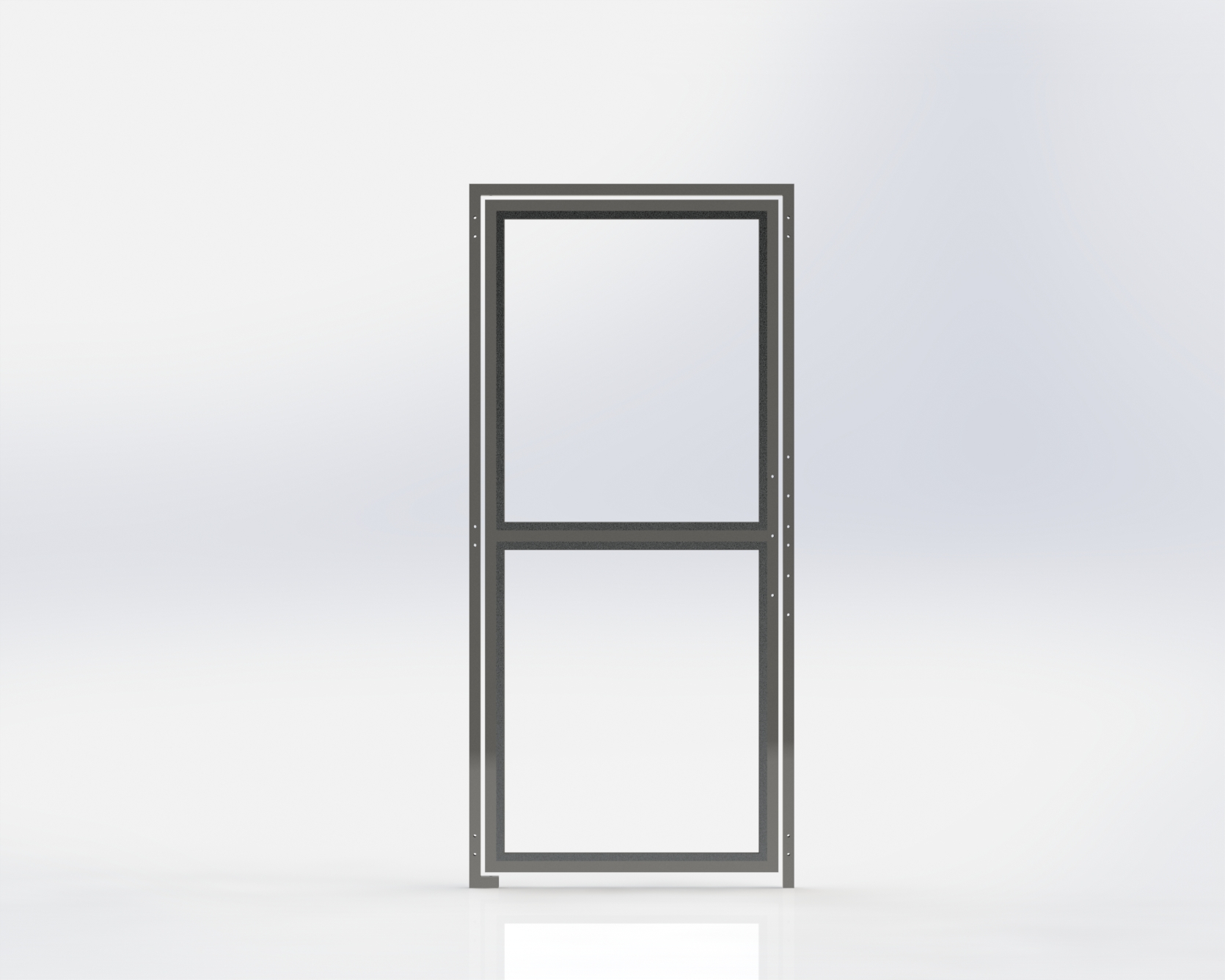 Run Gate,All Glass,914.4mm Wide x1981.2mm High,Right Hand