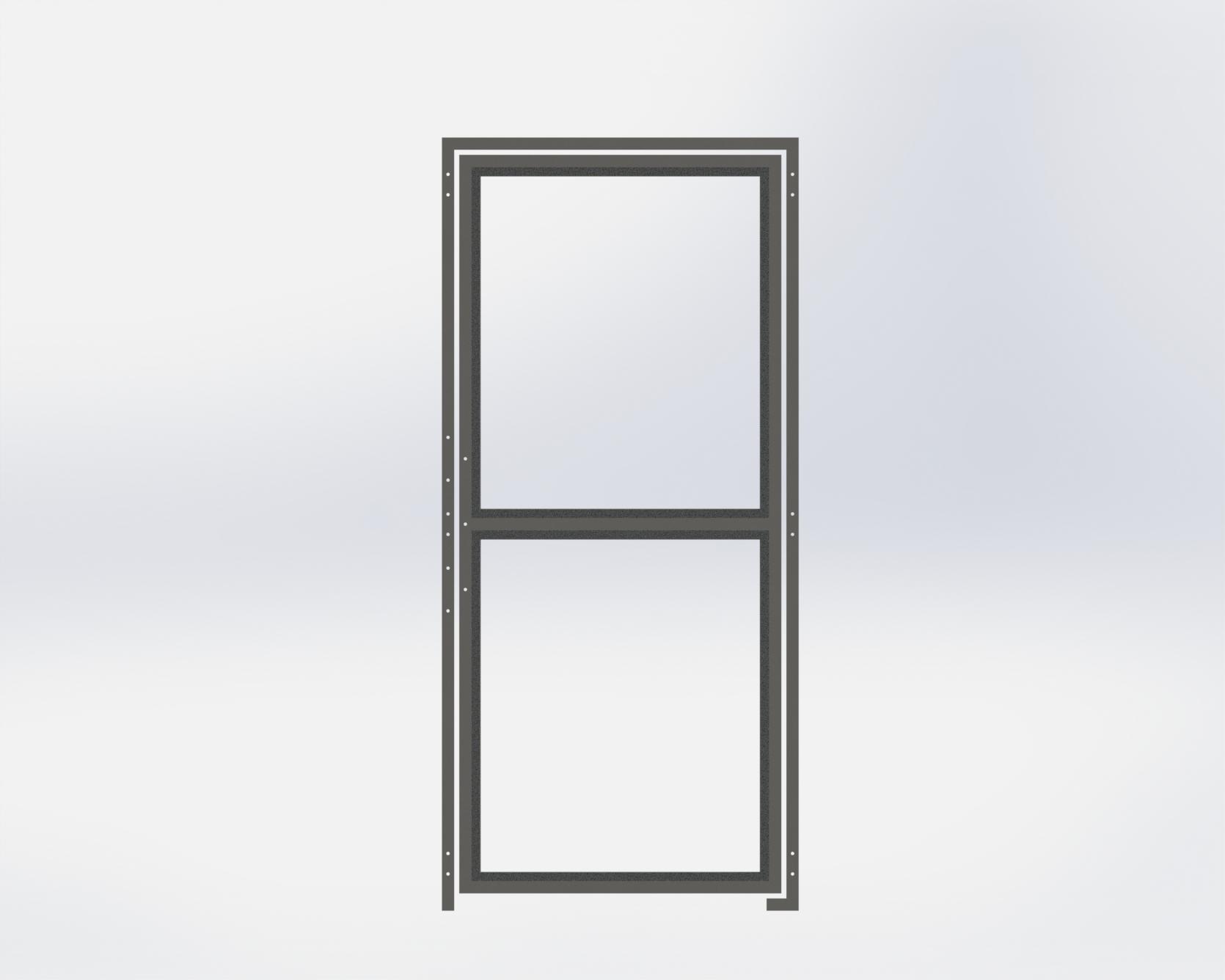Run Gate,All Glass,914.4mm Wide x1981.2mm High,Left Hand