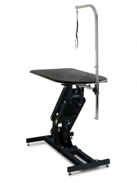 Elite Big Top Grooming Table Hydraulic Lift, Silver Vein