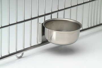 Feline Bowl with Kennel Door Mounting Backet 350ml