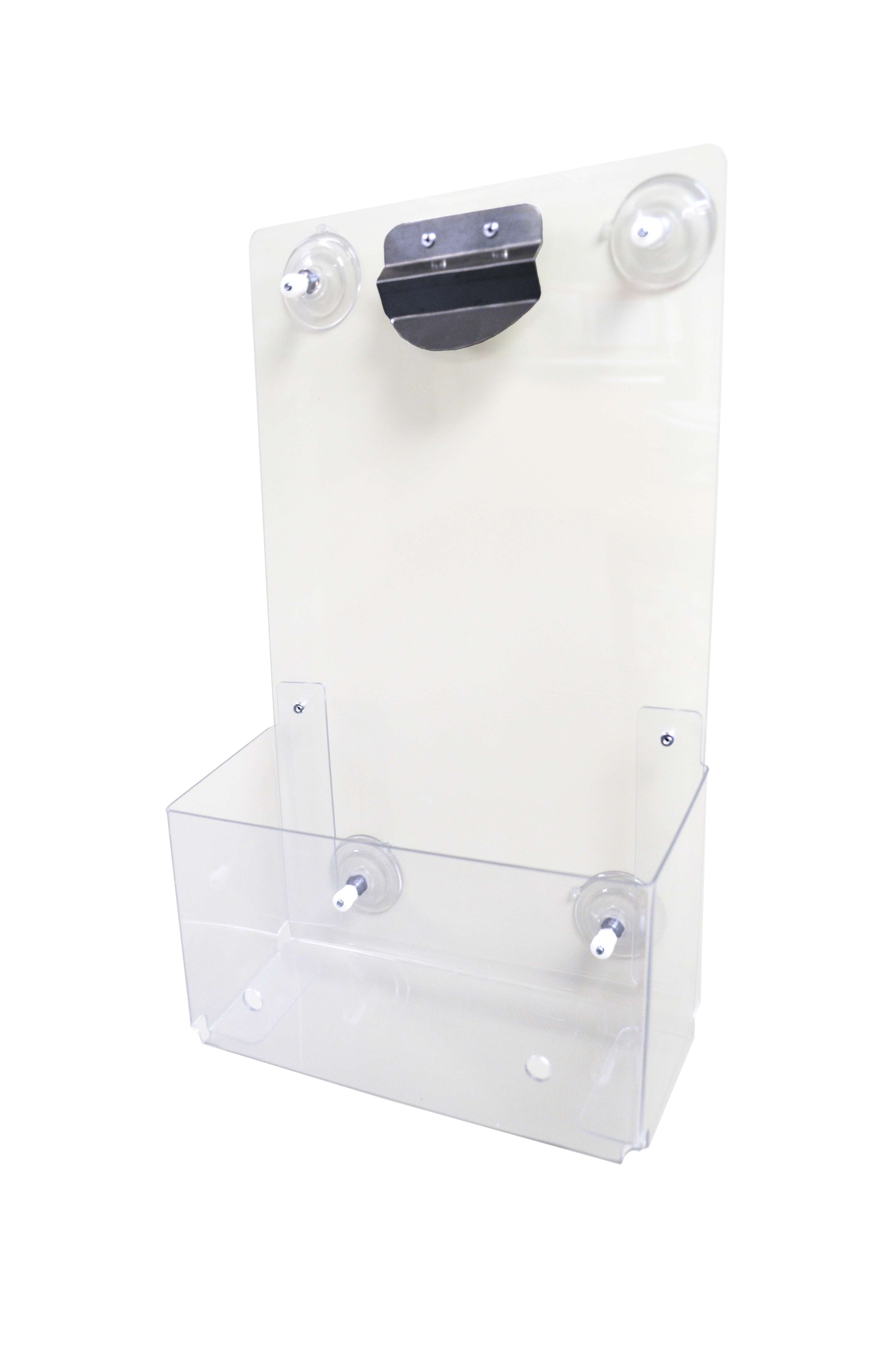 Clear Plastic Suction Record Holder - 228.6mm x 381mm