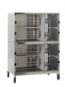 Stainless Steel Double Cat Suite, Mobile Unit