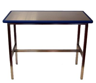 Blue Line Exam Table on legs and adjustable feet