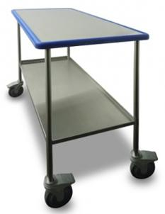 Blue Line Mobile Preparation Table with Shelf