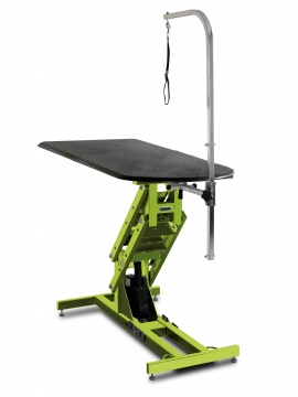 Elite Big Top Grooming Table, Electric Lift Screamin Green